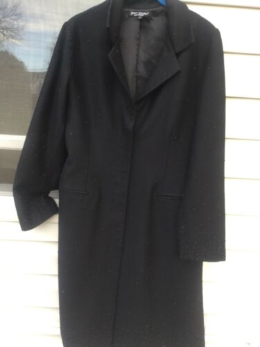 Lange Wool tommer Betsey Blend Johnson Udsmykning 36 Black Duster pCwTPR