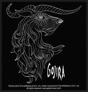 OFFICIAL LICENSED - GOJIRA - HORNS SEW ON PATCH METAL PROG