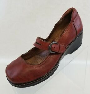BOC-Born-Concept-Mary-Jane-Wedge-Double-Straps-Brown-Leather-Womens-Shoes-Sz-7