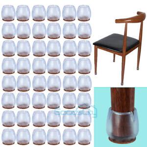 24 48pcs Silicone Chair Leg Caps Floor