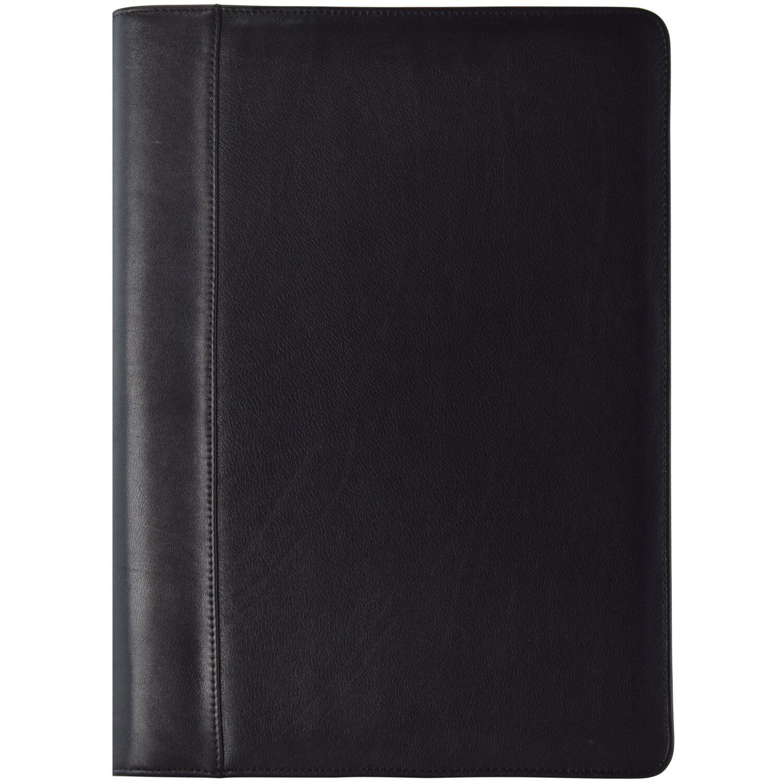 Dermata Schreibmappe V Aktenmappe Collegemappe Leder 36,5 cm cm cm (schwarz) | Zuverlässige Leistung  | Discount  | Deutschland Store  badf3b
