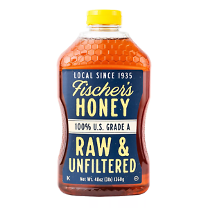 Fischer-039-s-Honey-Raw-and-Unfiltered-48-oz-fast-shipping