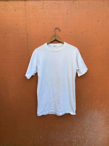 vintage single stitch t shirt Blank T Shirt White… - image 1