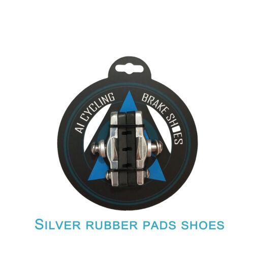 Road Bike Brake Caliper Pads Bicycle Brake Shoes Rubber Blocks Replaceable