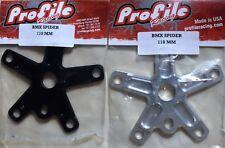Profile Racing Spider 4 bolt 104 BCD for BMX Old School Bikes Black or Polished