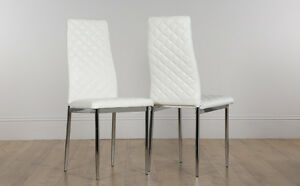 Image Is Loading 2 4 6 8 Renzo White Leather Dining