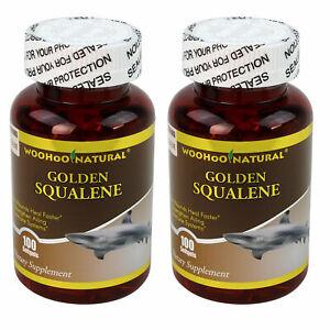 2-x-WooHoo-Natural-Golden-Squalene-1000-mg-100-SGels-100-Premium-Purity-Potency