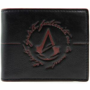 NEW-OFFICIAL-COOL-ASSASSINS-CREED-UNITY-LOGO-RED-amp-BLACK-BI-FOLD-WALLET