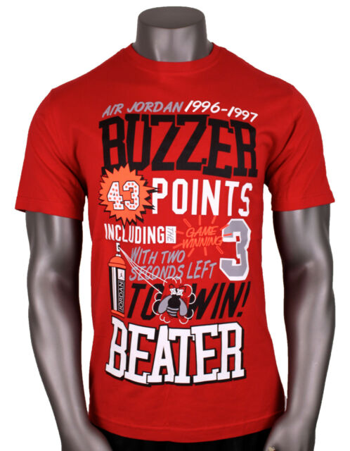 0064e099e13d8a Nike Air Jordan Retro 12 at The Buzzer Beater T-shirt Sz S Small Red ...