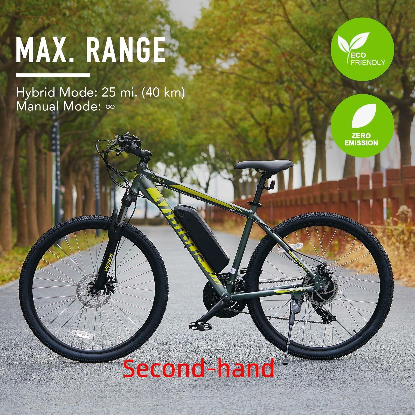 "Secondhand 27"" 21 Speed Electric Mountain Bike E Bike Dual Disc Brakes E Bicycle"