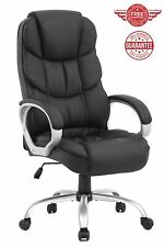 Leather Chair Ergonomic Gaming High Back Office Computer Executive Metal Base