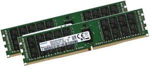 2x 32GB 64GB RAM RDIMM ECC REG DDR4 2133MHz f. Synology SA series:SA3600, SA3400