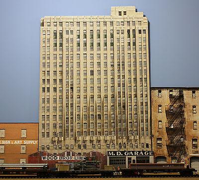 #223 N scale background building flat  LANDMARK   *FREE SHIPPING*