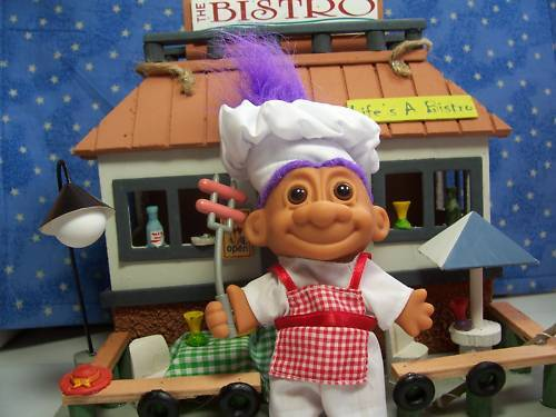 "5/"" Russ Troll Doll NEW IN ORIGINAL WRAPPER Rare HOT DOG // BARBEQUE COOK"