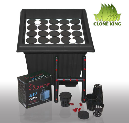 CLONE KING AEROPONIC CLONING MACHINE 25 SITE CLONER 100% WILL ROOT VERY EASY