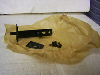 Vtg Door Throw Bolt Door/cabinet Hardware 3 Black Parkerized Finish Flush Mount