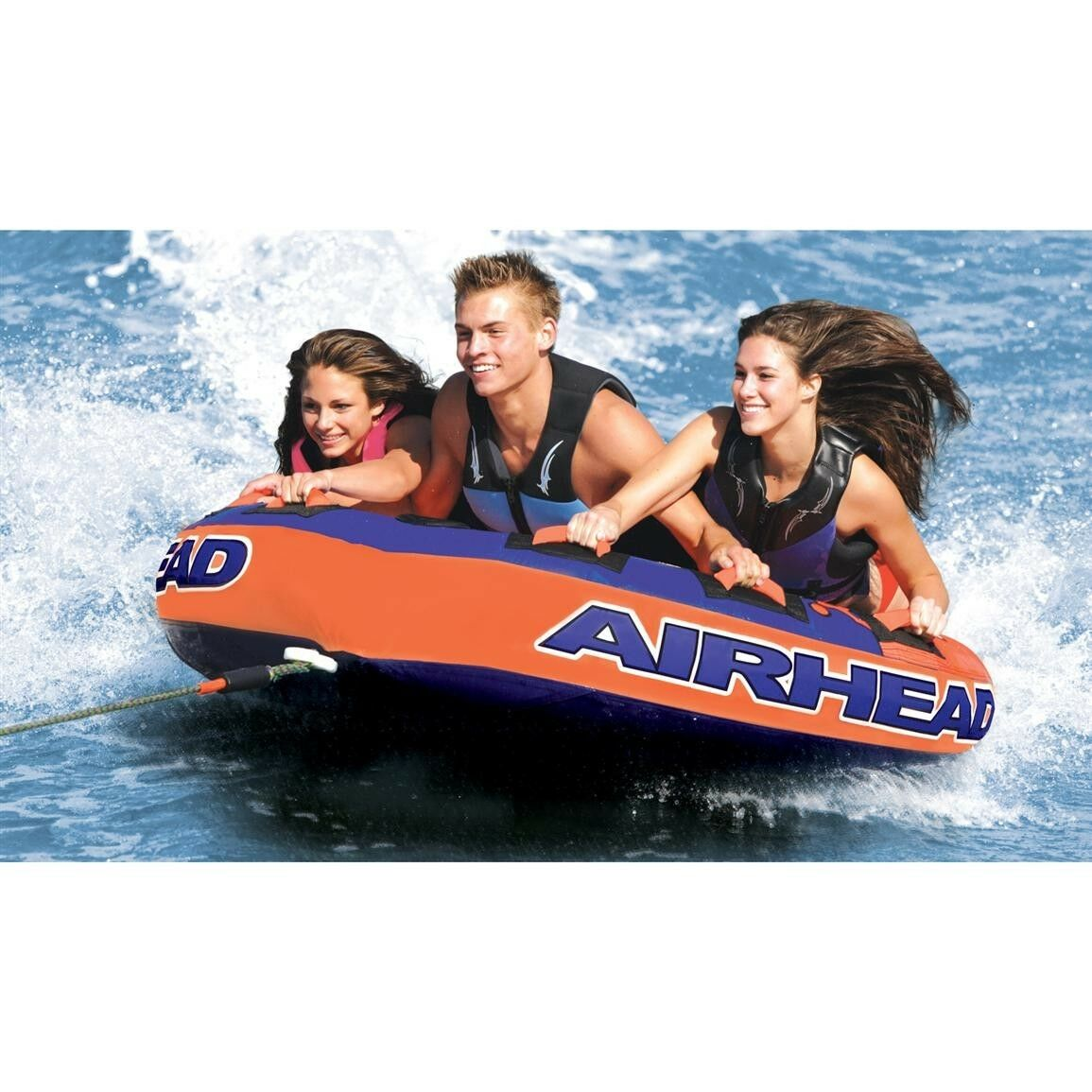 Boating Airhead Super Slice Towable Water Tube 3 Person Rider  ahssl-32