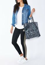 item 1 Womens Ladies Adidas Originals Shopper Beach Sports Gym Bag Grey Snake  Skin NEW! -Womens Ladies Adidas Originals Shopper Beach Sports Gym Bag ... b14a8144706c8