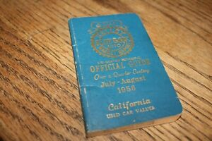 Orig Kelley Blue Book Used Car Values July Aug 1958 Check Out Those Values 9781936078455 Ebay