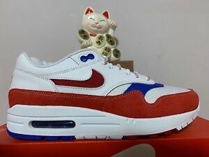Details about Nike Air Max 1 Premium Puerto Rico White Red Blue New Men's 7 [CJ1621 100]