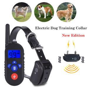 300M-Ricaricabile-Collare-addestramento-cani-Vibrazione-Scarica-Antiabbaio-Suono