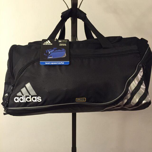 f1912a8dc9 adidas Team Speed Duffel Workout Gym Bag Size Medium Black   Silver Q08523