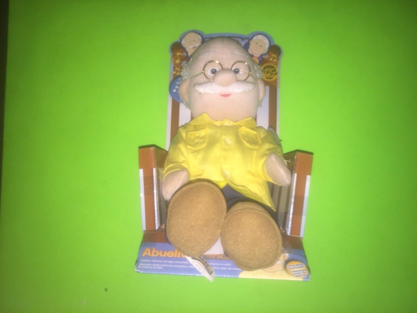 New NIB Abuelito Pancho Grandpa Baby Abuelita Musical Singing Spanish Plush Doll