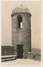 St. Augustine FL * Watch Tower c1950 Cline RPPC #2-D-512 Castillo de San Marcos