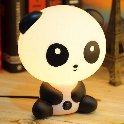 Cute KungFu Panda Cartoon Kids Bed Desk Table Lamp Night Sleeping Lamp Gift F5