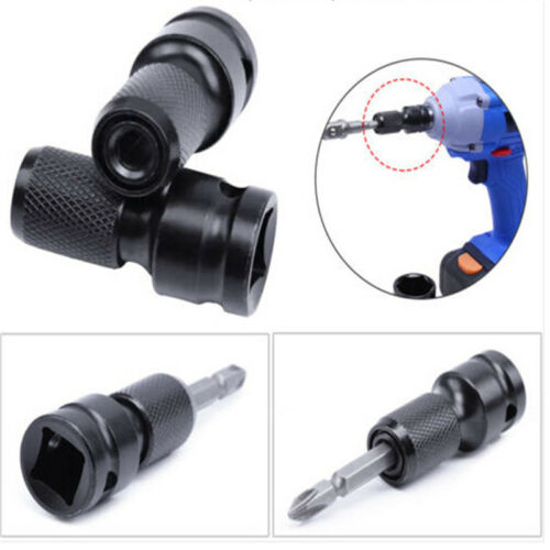 HSS 1//2in Square to 1//4in Adapter Hex Shank Socket Converter Adapter Change Tool