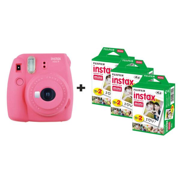 Analytique Fujifilm Instax Mini 9 Instant Camera Avec 60 Coups-rose Flamant