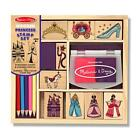 Melissa And Doug Wooden Princess Stamp Set 9 Stamps 5 Colored Pencils Pad 2418