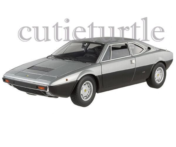 Hot Wheels Elite x5483 1973 Ferrari Dino 308 Gt4 1 18 Diecast nero   argento
