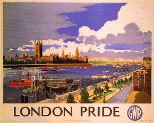 London Pride Great Britain Vintage Travel Advertisement Poster Picture Print