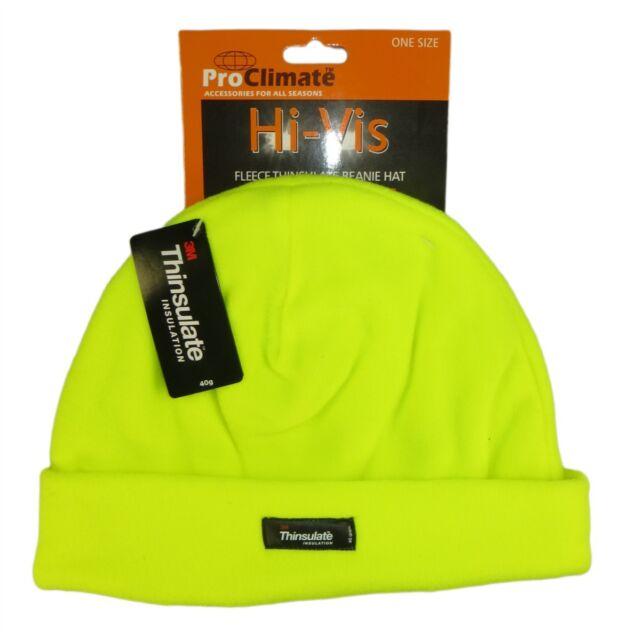 87505b99106c2 Men s Hi Vis Thermal Fleece Beanie Hat 3m Thinsulate Hats Outdoor ...