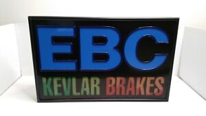 Rare-Vintage-EBC-Brakes-Dealer-Light-Up-Sign-22x14-034-Clear-Vision-USA