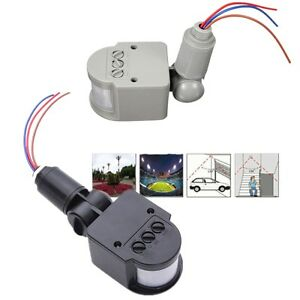 110v 240v led outdoor infrared pir motion sensor detector wall light switch 140 176 ebay