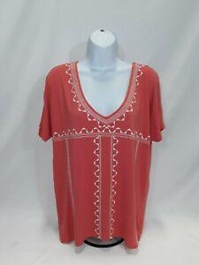 Women-039-s-Large-Orange-Old-Navy-Knit-Top
