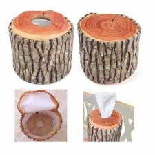 Lifelike Wood Plush Tissue Box Paper Cotton Storage Case Holder Cover Home New