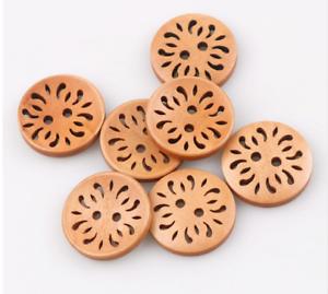 4 grandes botones de madera natural luz 2 agujero 21 mm Flor de Costura Artesanía Reino Unido Vendedor