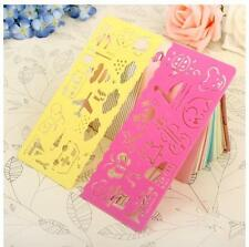 4pc Cute Drawing Template Ruler For Children Art Graphics and Symbols Stencil MT
