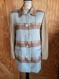 ESCADA Margaretha Ley Wool Goat Velour Jacket Coat VTG 80s Sz 34 Eu Sz SM