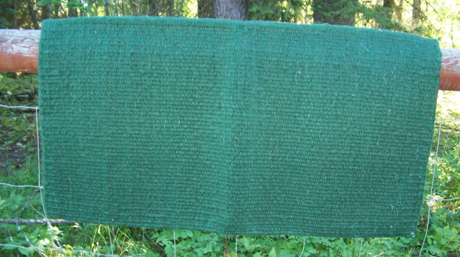 San Juan Solid Wool Show Blanket - 34 x 36 (Hunter Green) by Mayatex