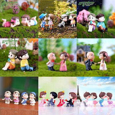4 x Miniature Dollhouse Fairy Garden Bonsai Pot DIY Decor Craft Love Couples