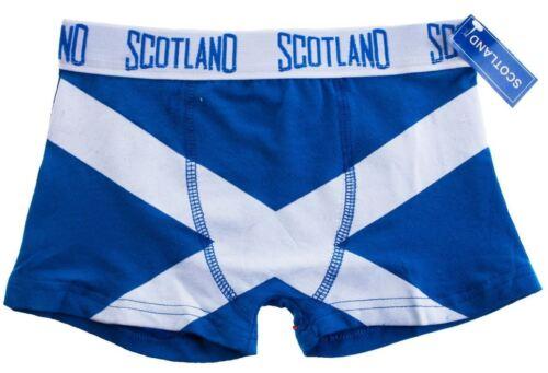 Boys Boxer Shorts Saltire Fashion Design Royal Blue Size 07-09years