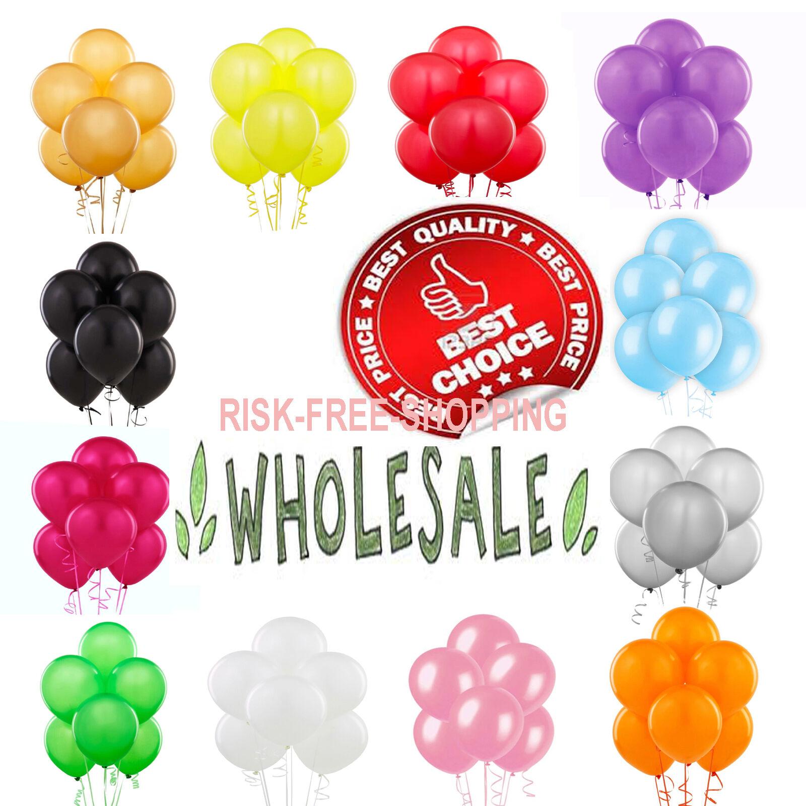 "WHOLESALE PLAIN MIX Balloon Latex LARGE High Quality Bulk Price Party Baloon 10/"""