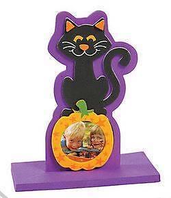 image is loading 1 cat on pumpkin foam photo frame magnet