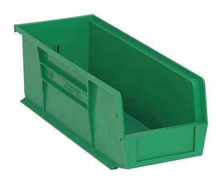 """14-3//4/""""L x 5-1//2/""""W x QUANTUM STORAGE SYSTEMS QUS234GN Green Hang and Stack Bin"""