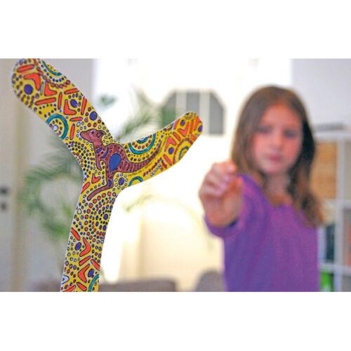 Boomerang 4er Set selber bemalbar gestalten Känguru Kinder NEU Bumerang