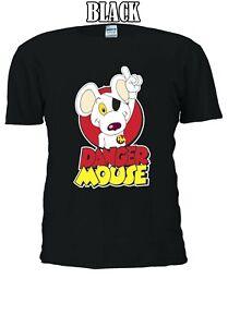 DANGER-Mouse-British-Serie-TV-Cartoni-Animati-Film-Divertente-Uomini-Donne-Unisex-T-shirt-908